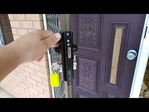 how to fix a triple lock security door when not locking properly
