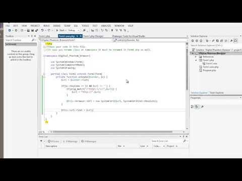 PHP Tutorial: Create a desktop based Web Browser using PHP Phalanger