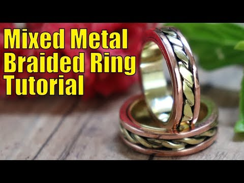 How to make a gorgeous mixed metal braided ring