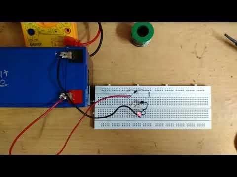 LED Flasher using a Single Transistor