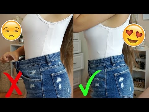 EASILY DOWNSIZE WAIST OF JEANS/ SHORTS | NO SEWING REQUIRED