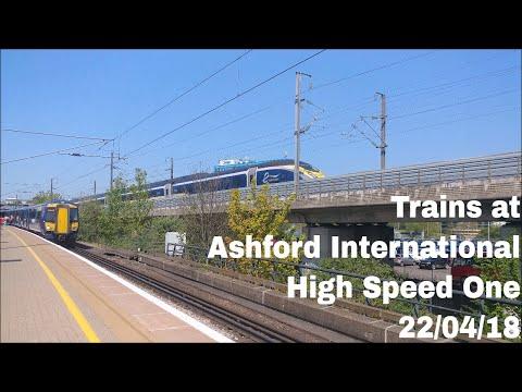 Trains at Ashford International, HS1 | 22/04/18