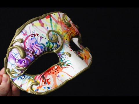 DIY Watercolour Masquerade Mask