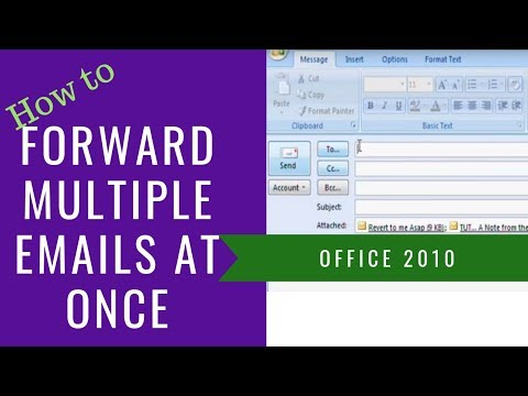 Forward multiple emails at the same time