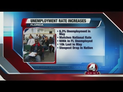 Florida's unemployment rate edged up in May