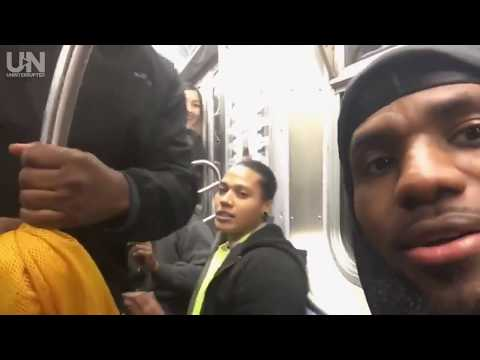 Cleveland Cavaliers use New York subway after shoot around preparing for Knicks