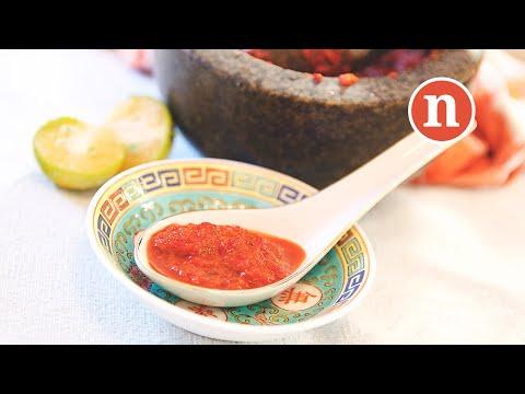 Sambal Belacan | Raw Chillies with Shrimp Paste [Nyonya Cooking]
