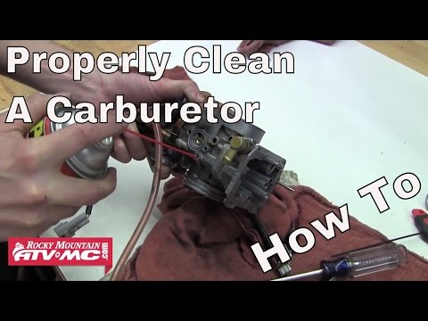 How to Properly Clean a Carburetor on a Motorcycle or ATV
