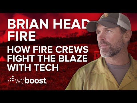 Brian Head Fire - Behind The Scenes - How Firefighters Use Technology To Battle The Blaze! | weBoost