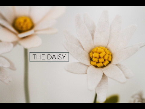 Felt Flower Tutorial DIY: Daisy (simple + easy!) A Flower Making DIY How-to Video
