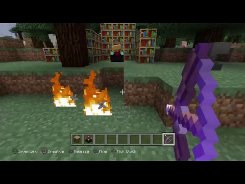 How to enchant your bow to flame ( minecraft ps4 xbox one )