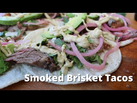 Smoked Brisket Tacos | Smoked Brisket on UDS Smoker for Beef Brisket Tacos