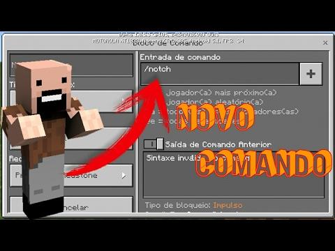 COMANDO DO NOTCH NO MINECRAFT POCKET EDITION 1.0.6 (COMMAND BLOCK)