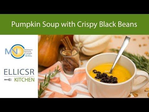 Pumpkin Soup with Crispy Black Beans