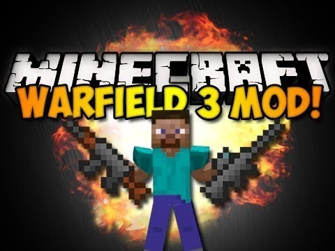Minecraft Mod Review - WARFIELD 3 (Add Guns and more!)