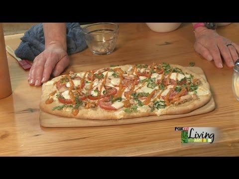 Grilled Chicken Margherita Flatbread