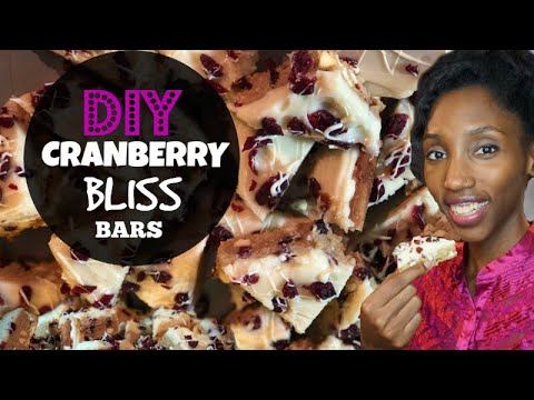 How To Make Cranberry Bliss Bars | Recipes with Cranberry