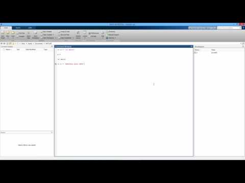 How to Create a String as a Variable in MATLAB. [HD]