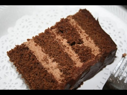 Chocolate Fudge Cake With Mocha Mousse Filling