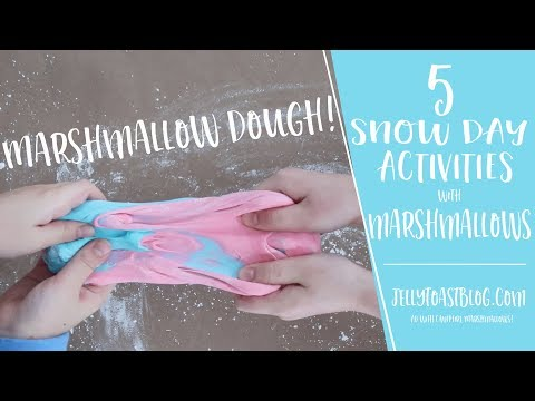 AD | 5 Snow Day Activities with Marshmallows | Jelly Toast