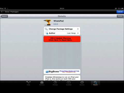 Tutorial | How to get whatsapp on Ipad or ipod touch.