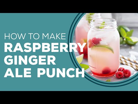 Raspberry Ginger Ale Punch by Paula Deen - Blast from the Past