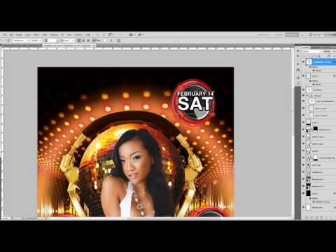 How to make PSD flyers on Adobe Photoshop CS6 Party Event Club Graphic Design