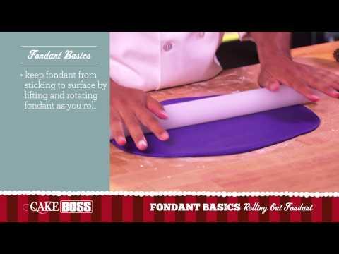 How to Roll Out Fondant - Fondant Basics Part 2 - Cake Boss Baking