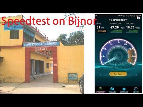 [Hindi - हिन्दी] Jio Speedtest in Bijnor,Uttar Pradesh,India