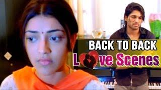 Telugu Movie Love Scenes - Back to Back Love Scenes - Allu Arjun, Kajal Aggarwal