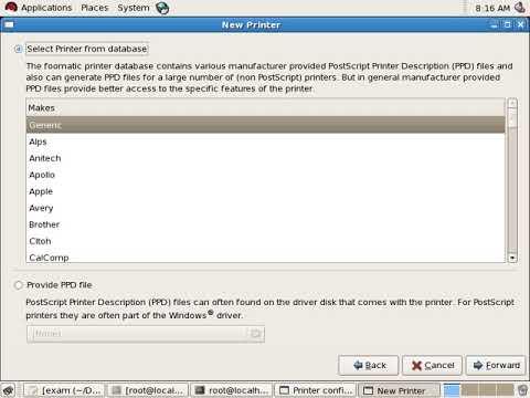Linux to configure IPP Printer