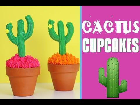 Cactus Pretzel Cupcakes | Cake Cacti Garden | Elise Strachan | My Cupcake Addiction