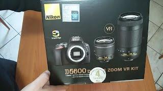 Unboxing Nikon D5600 Kit Ufficiale NITAL 18-55 +70-300 + 8GB SDHC 45MB/S  🌟🌟🌟🌟🌟