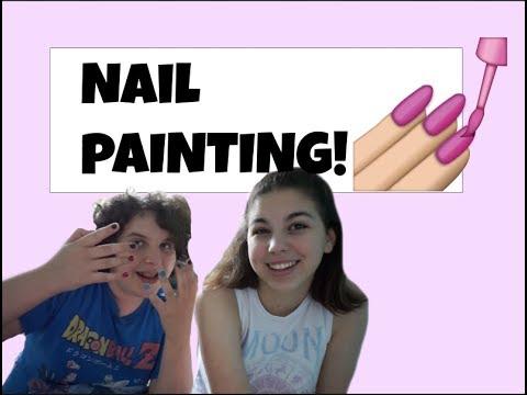 Painting Thomas's Nails!