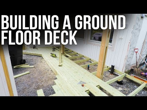Building a ground floor deck // Bygge platting