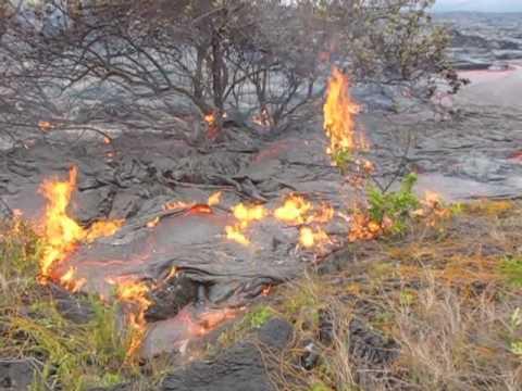 Kilauea Lava Flow July 14, 2010