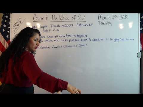 EMOAF S.O.M Back To Basics | Theology Exegesis Two: Course 7: The Works of God