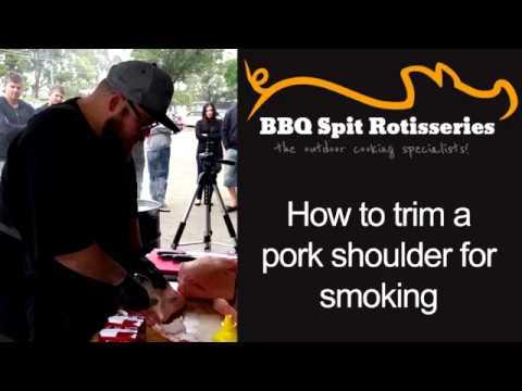 How to trim a pork shoulder for smoking