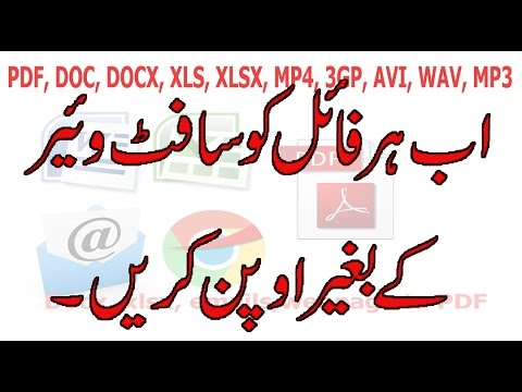 Open & Convert PDF, DOC, PPS, DOCX, XLS, 3GP, MP4, FLV, AVI Without Software