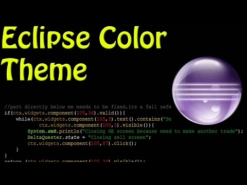 How to Change Color Theme in Eclipse