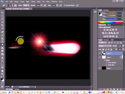 photoshop cs6 tutorial - create a shooting star