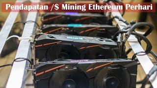 Pendapatan Perhari dari Mining Ethereum 2017
