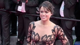 Fast and Furious star Michelle Rodriguez at the Mad Max Premiere in Cannes