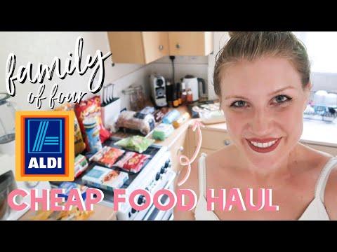 FAMILY OF FOUR CHEAP FOOD SHOP UK | ALDI HAUL