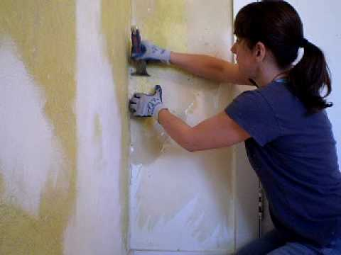 Removing Painted Wallpaper
