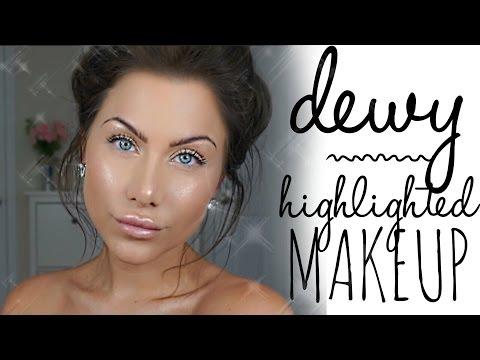 Dewy skin   Jlo glow makeup tutorial   beeisforbeeauty