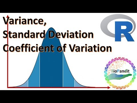 Variance, Standard Deviation and Coefficient of Variation using R