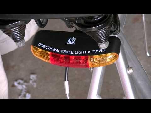 Bike headlight taillight brake light 8 tune horn combo review