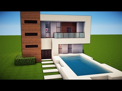 Minecraft: Simple & Easy Modern House Tutorial / How to Build # 19