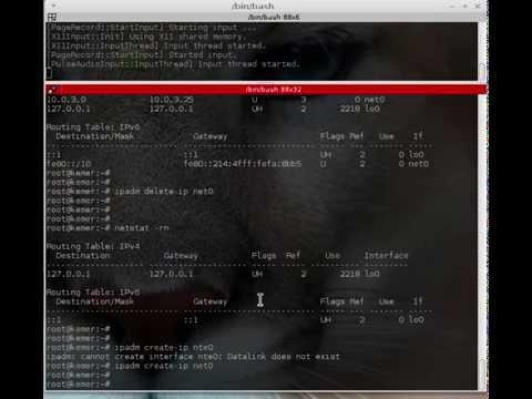 Solaris11 Basic Network Settings